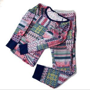 Victoria's Secret Patchwork Print Thermal Pajamas